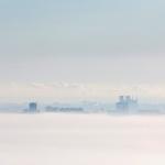 Lever de brume sur la cathédrale de Reims