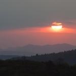 Coucher de soleil au Col de Linas - Corbières